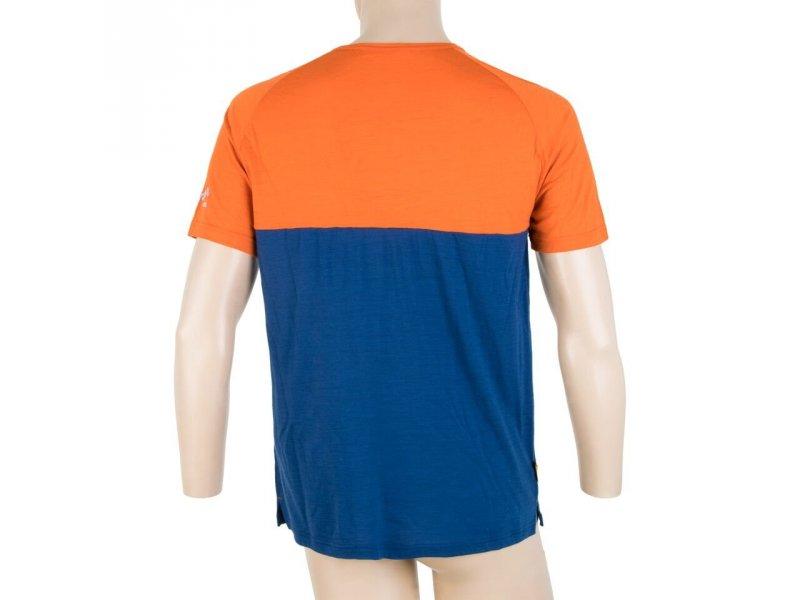 74776f366 ... Sensor Merino Air PT pánské triko kr.rukáv s knoflíky oranžová/modrá ...