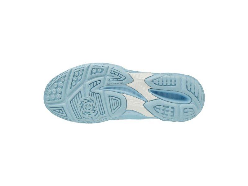 2a142e29c77a9 Dámska halová obuv Mizuno Thunder Blade W Cool Blue / White / Silver ...